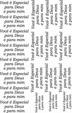 Decalque para Porcelana - Você é Especial para Deus