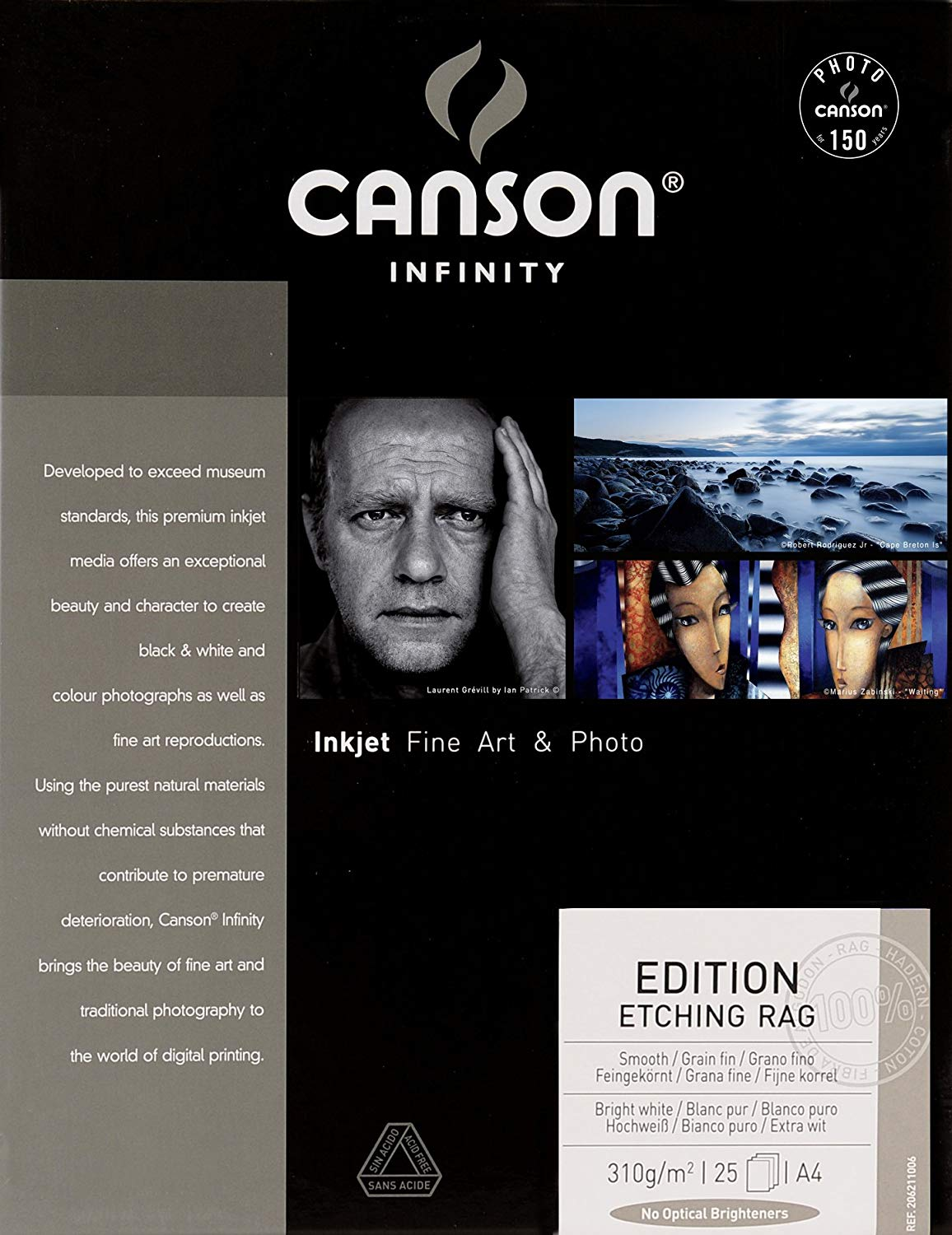 CANSON EDITION ETCHING RAG 310 GSM  A4 -  25 FOLHAS  - Info Paraná