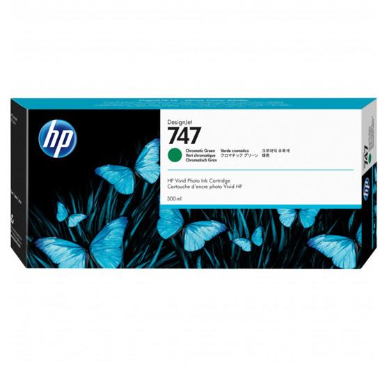 CARTUCHO HP DESIGNJET Z9 DJ747 - VERDE CROMÁTICO P2V84A - 300ml  - Info Paraná