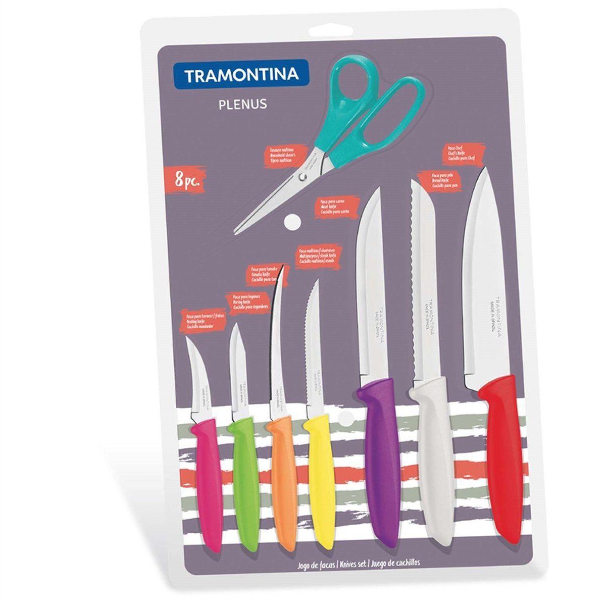 Jogo de Facas 8 Peças Tramontina - Plenos 23498/917