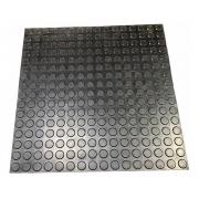 30 Piso Moeda Preto Borracha Pastilhado Academia 50x50cm