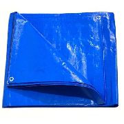 Lona Azul 300 Micras Reforçada Impermeavel Multiuso 2x2 M