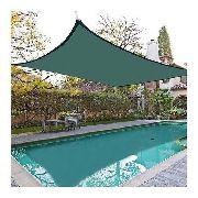 Tela Toldo Sombreamento Cor Verde Shade Retangular 4x2,5 M