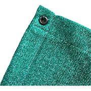 Tela Sombrite Verde 90% - 2m X 6m Com Bainha E Ilhós
