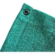 Tela Sombrite Verde 80% - 4m X 2m Com Bainha E Ilhós