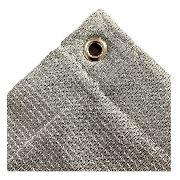 Tela Sombrite Prata 90% - 4m X 10m Com Bainha E Ilhós Sl