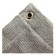 Tela Sombrite Prata 90% - 3m X 5m Com Bainha E Ilhós Sl