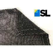Tela Sombrite Preta 80% - 5m X 3m Com Bainha E Ilhós Sl