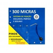 Capa para Piscina Proteção Azul 300 Micras - 12,5x8