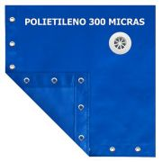 Capa para Piscina SL 300 Azul Completa com Acessórios Pinos e Extensores 5x3 m