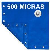 Capa para Piscina SL 500 Azul Completa com Acessórios Pinos e Extensores 7x4 m