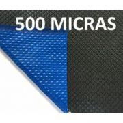 Capa Térmica Azul/Preto Para Piscina 500 Micras 2x8