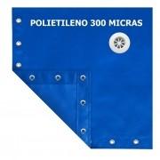 Lona Multiuso Impermeável Prática Piscinas em Polietileno com Dreno Azul 300 Micras