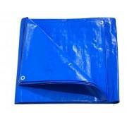 Lona Multiuso Impermeável Cargas Camping em Polietileno Azul 300 Micras