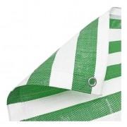 Lona Multiuso Polietileno Listrada Barraca de Feira Verde/Branco 300 Micras
