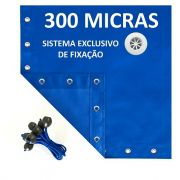 Lona Polietileno Azul 300 Micras - 8x4,5