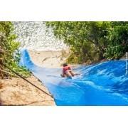 Lona Ski Bun Escorregador para Recreação Azul