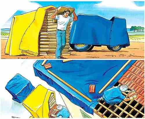 Lona Azul Sl300 Micras Cobertura Multiuso Telhado 6x4 Mt