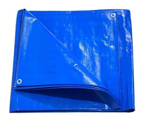 Lona Azul Sl300 Micras Cobertura Multiuso Telhado 6x2 Mt