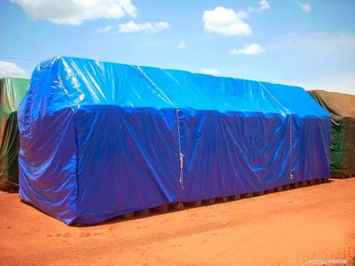 Lona Azul 300 Micra Reforçada Impermeavel Multiuso 8x5 Mts