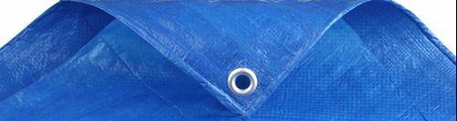 Lona 7x5 M Impermeável Plástica Azul Telhados Festa Camping