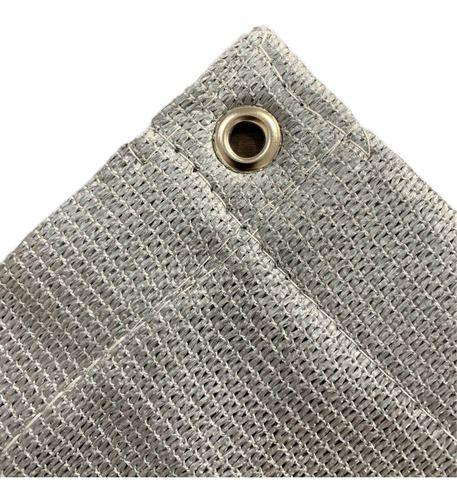 Tela Sombrite Prata 90% - 7x4m Com Bainha E Ilhós Sl
