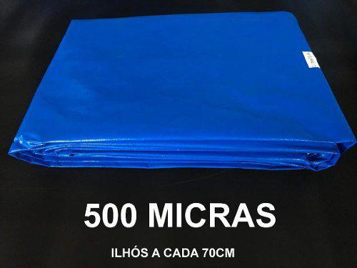 Lona Forte 500 Micras Carga Cobertura Piscina Multiuso 7x3 M