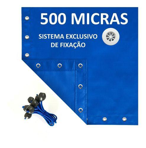 Capa De Piscina 9 Em 1 500 Segurança + Térmica 7,5x3,5 Metros