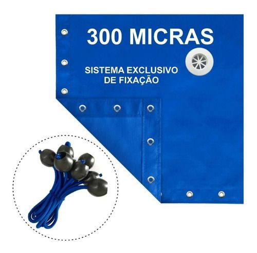 Capa De Piscina 5 Em 1 Proteção + Térmica Completa 4x2 Mts