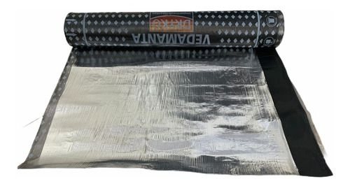 Manta Asfáltica Aluminizada Poliéster 25kg Tipo 1 - 1m X 10m