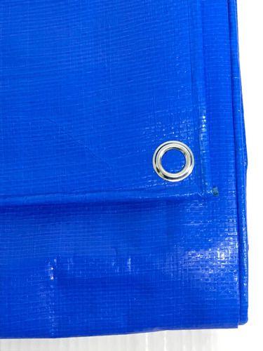 Lona Capa Para Piscina Ou Telhados Azul 300 Micras 9,5x5 Mts