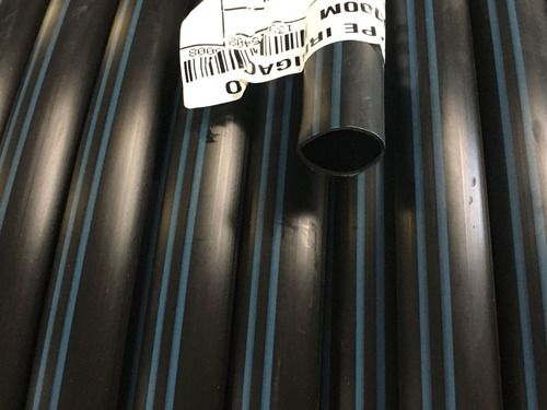Mangueira Tubo Pelbd 16mm 400 Mts Pn 30 Faixa Azul Irrigação