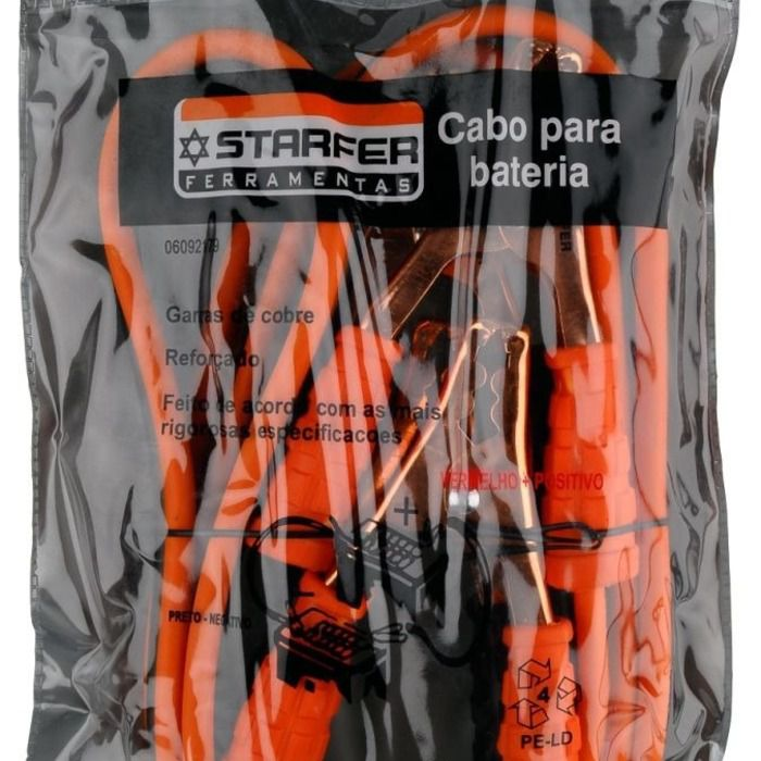Cabo Para Bateria Chupeta Automovél Starfer 100a