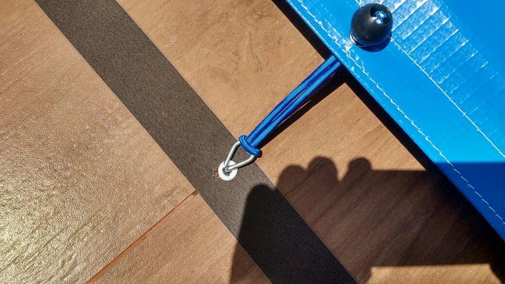 Capa de Piscina 15 em 1 Segurança Proteção SL500 Azul 5x5