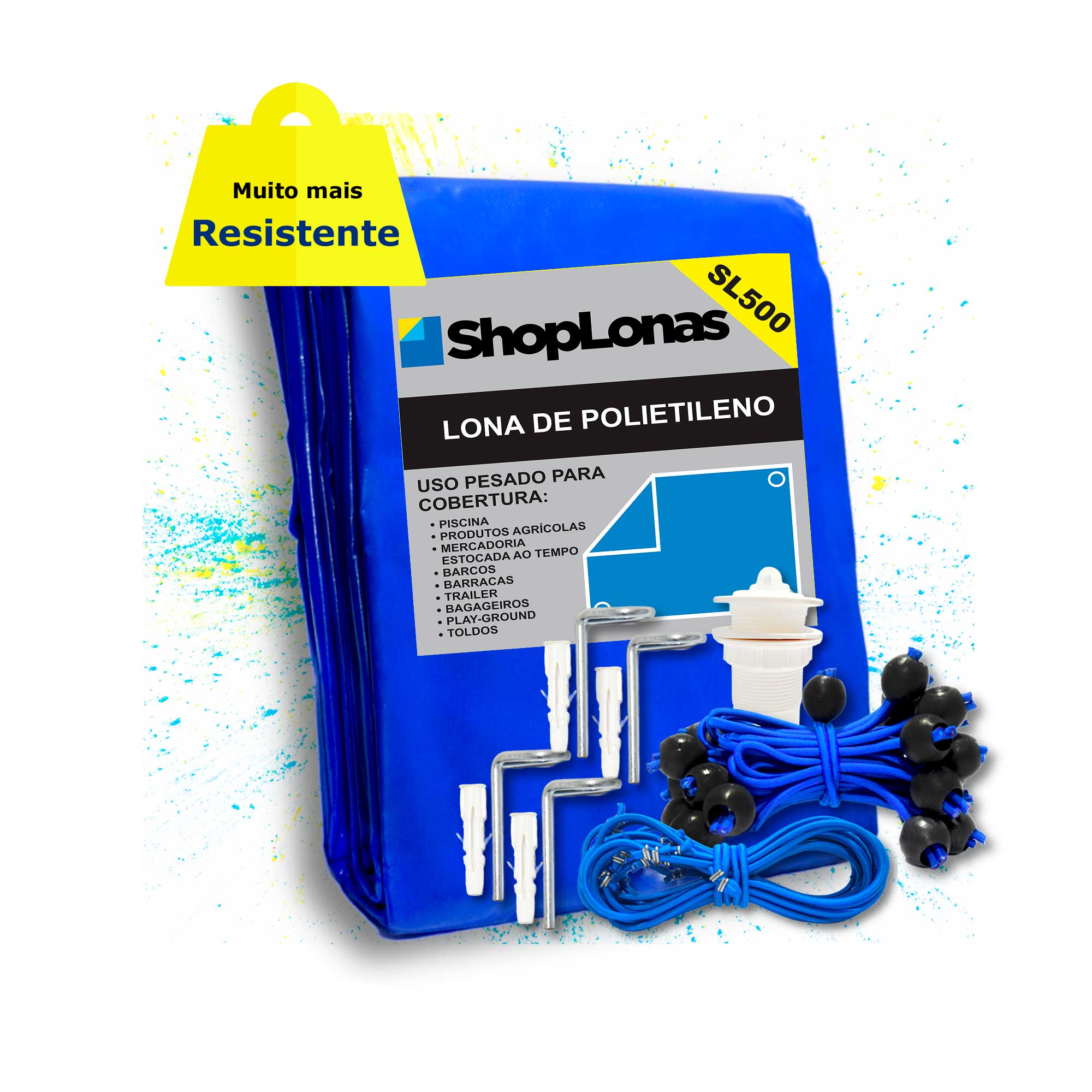 Capa de Piscina 15 em 1 Segurança Proteção SL500 Azul 6x4,5