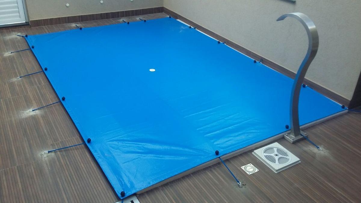Capa para Piscina 10 em 1 Proteção Azul 300 Micras 13x4,5