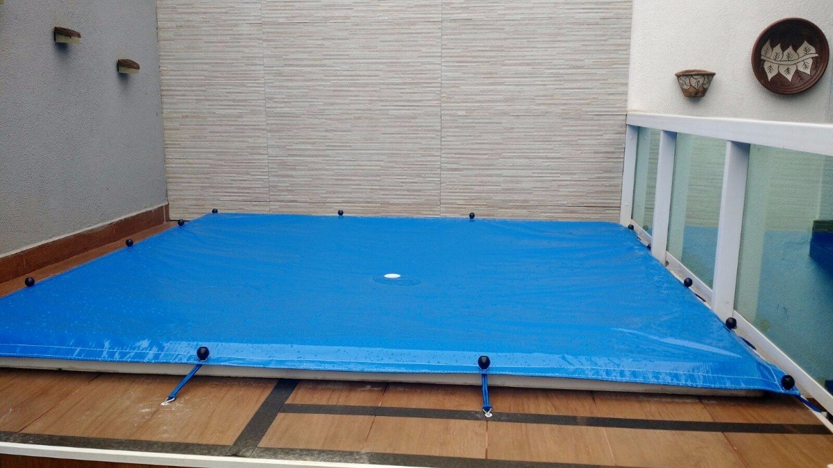 Capa para Piscina 10 em 1 Proteção Azul 300 Micras 8x8