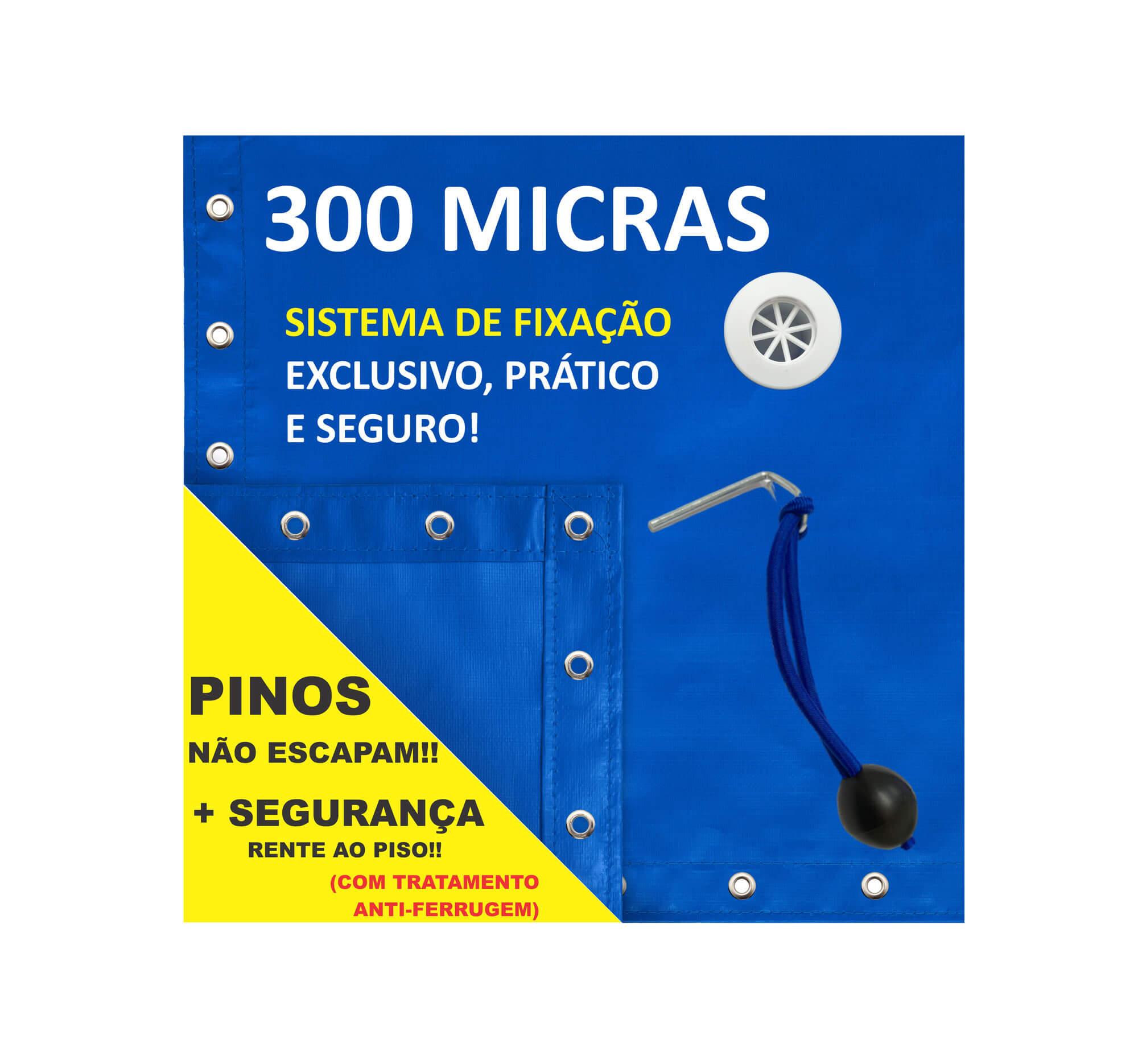 Capa para Piscina Proteção Azul 300 Micras - 12,5x7,5