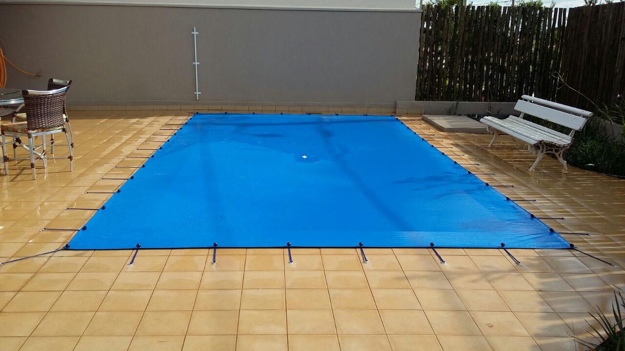Capa para Piscina Proteção Azul 300 Micras - 6x5,5