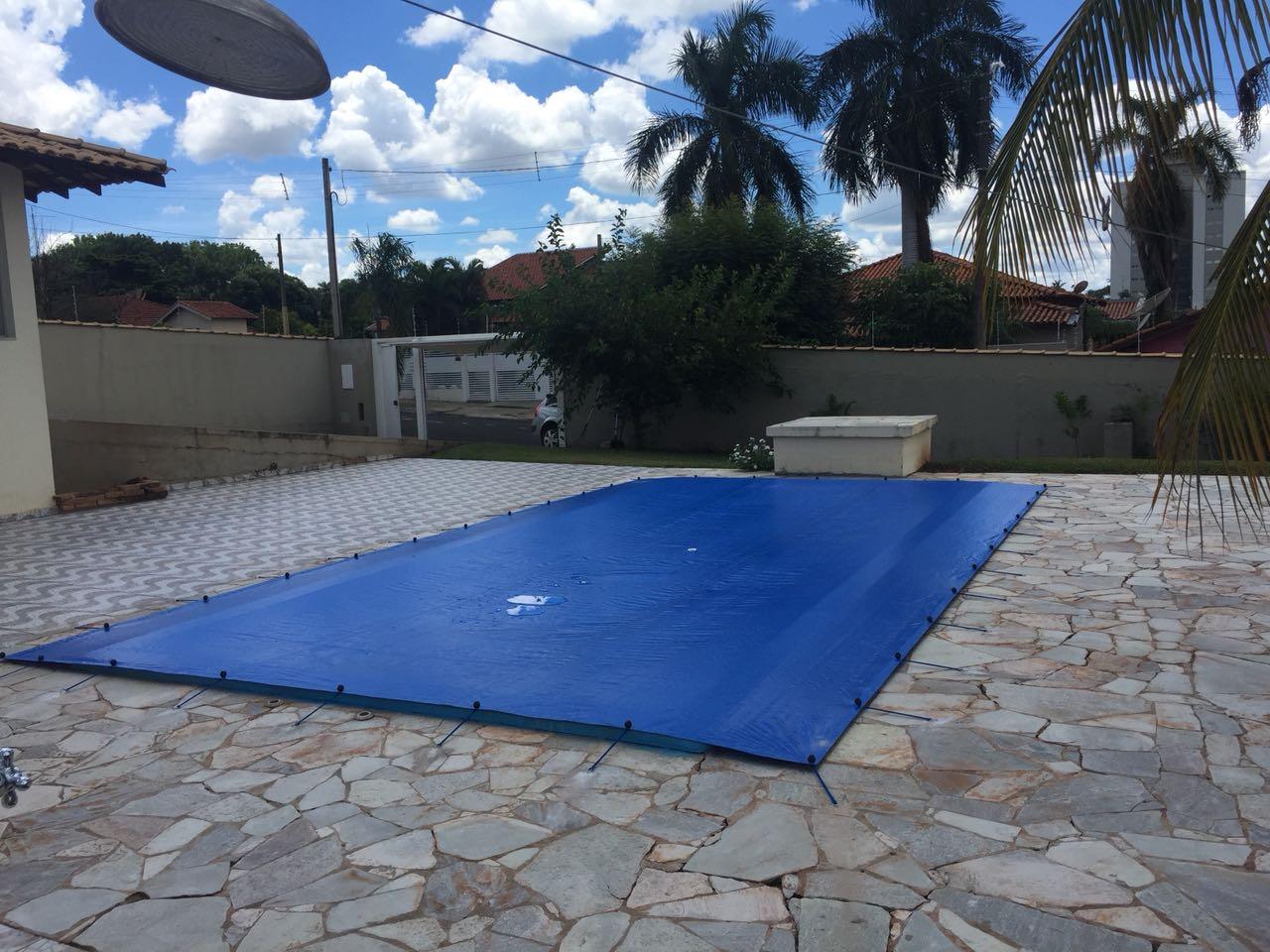 Capa para Piscina Proteção Azul 300 Micras - 7x5,5