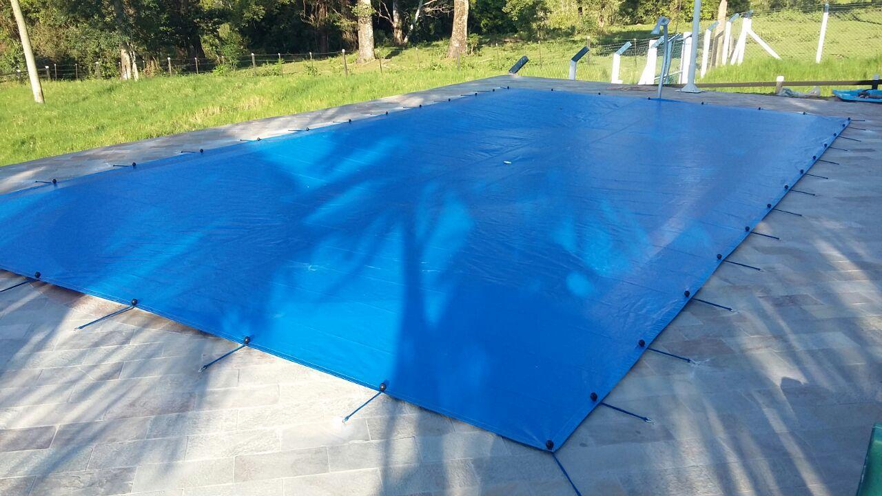 Capa para Piscina SL 300 Azul Completa com Acessórios Pinos e Extensores 5,5x3,5 m