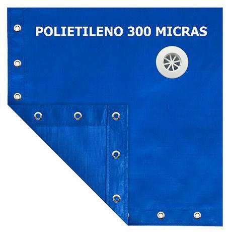 Capa para Piscina SL 300 Azul Completa com Acessórios Pinos e Extensores 5x3,5 m