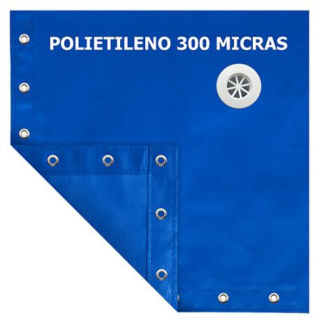 Capa para Piscina SL 300 Azul Completa com Acessórios Pinos e Extensores 8x4,5 m