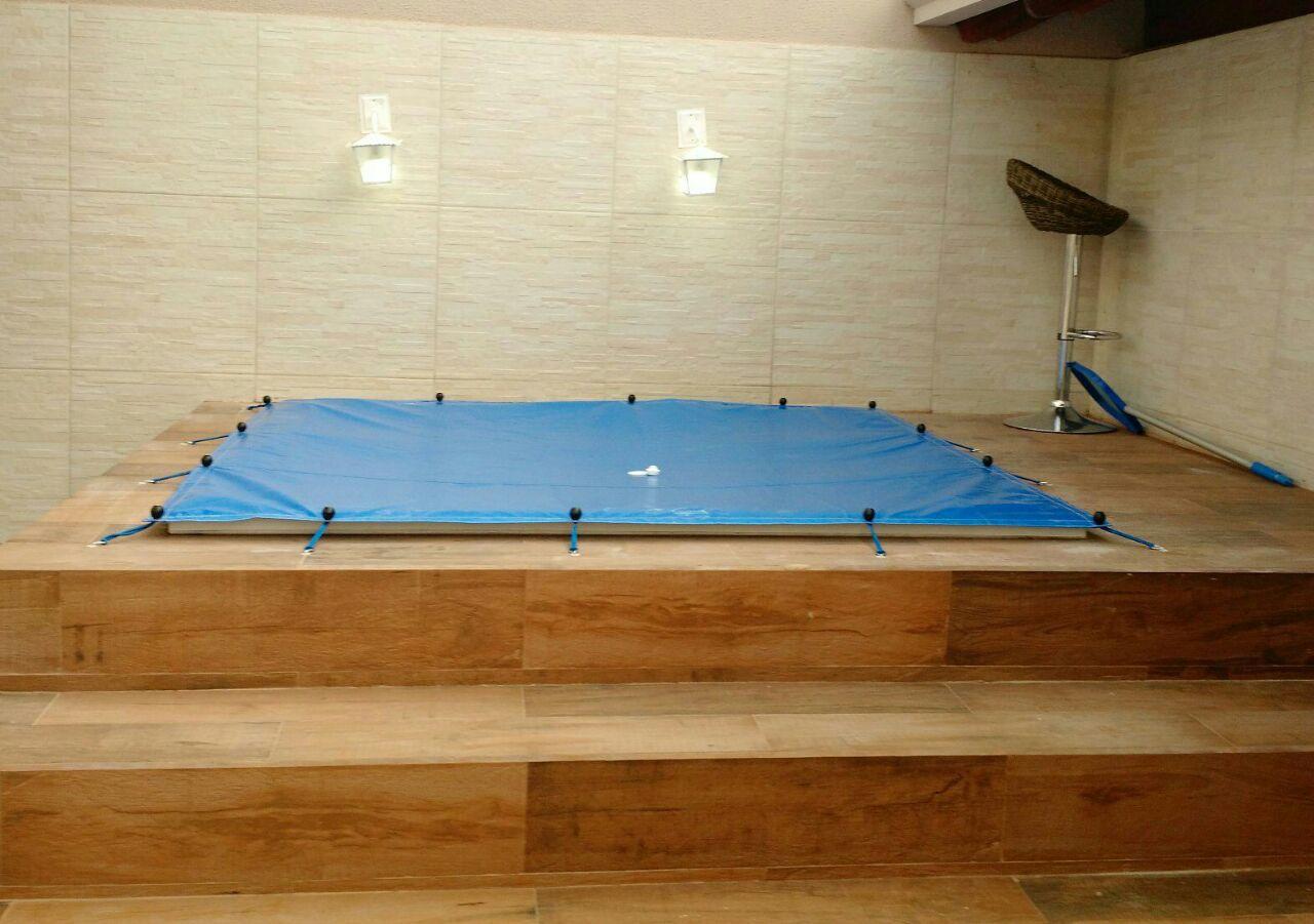 Capa para Piscina SL 500 Azul Completa com Acessórios Pinos e Extensores 3,5x2,5 m