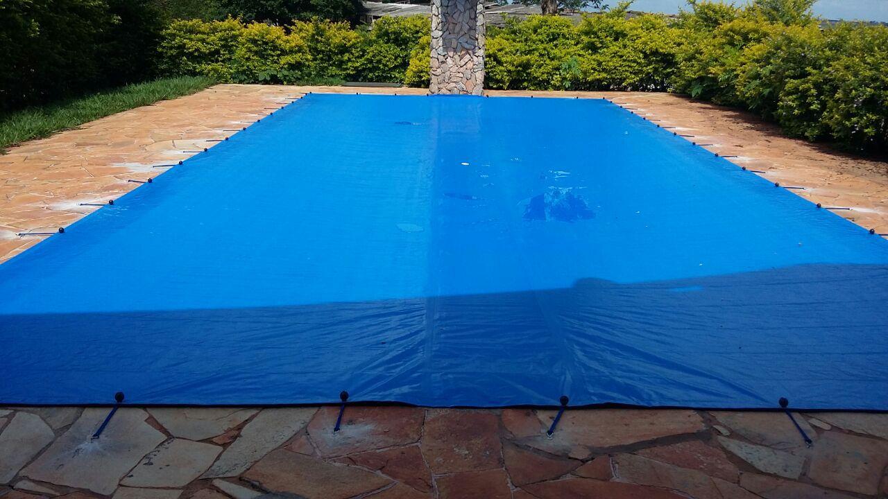 Capa para Piscina SL 500 Azul Completa com Acessórios Pinos e Extensores 5x3,5 m