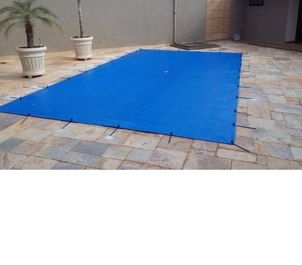 Capa para Piscina SL 500 Azul Completa com Acessórios Pinos e Extensores 7,5x4 m