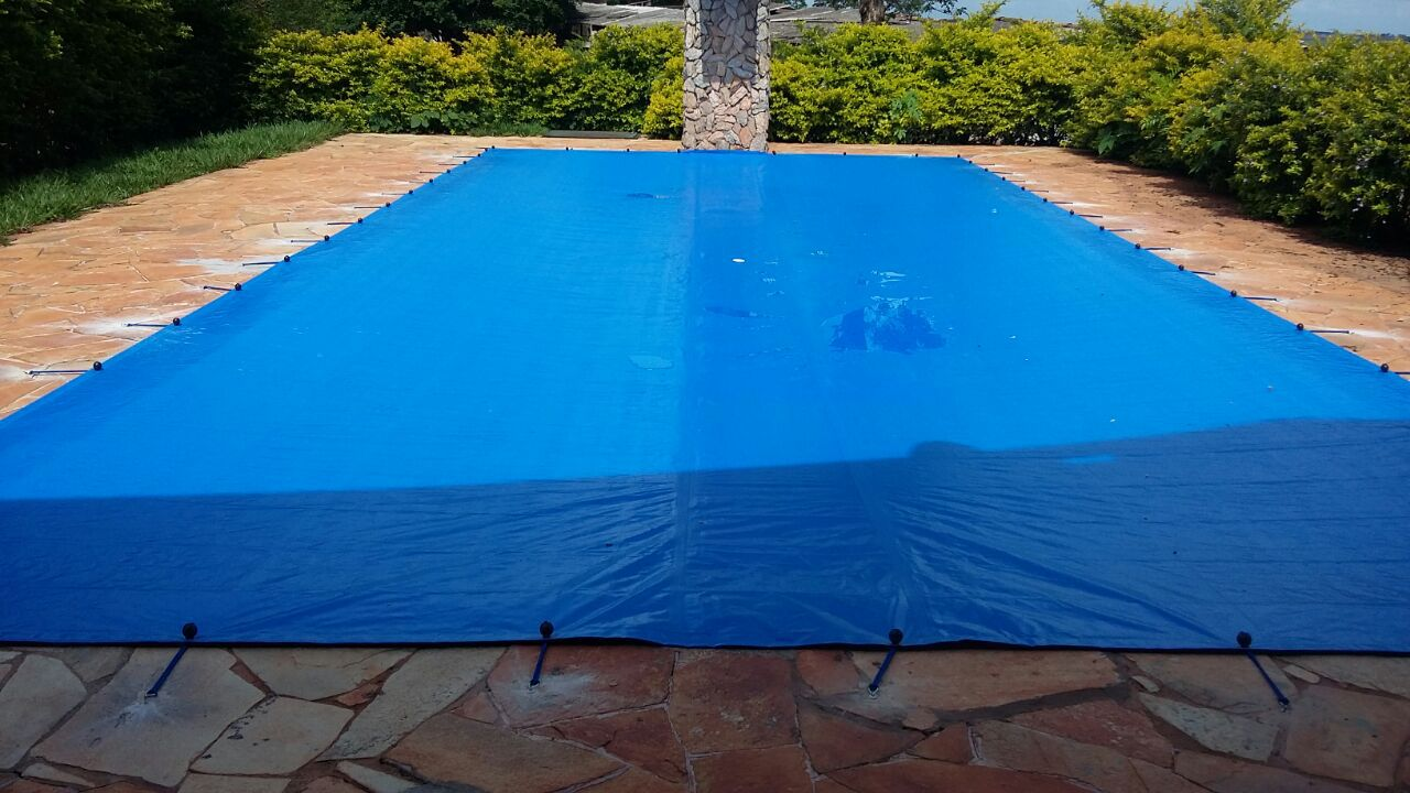 Capa para Piscina SL 500 Azul Completa com Acessórios Pinos e Extensores 8x4 m