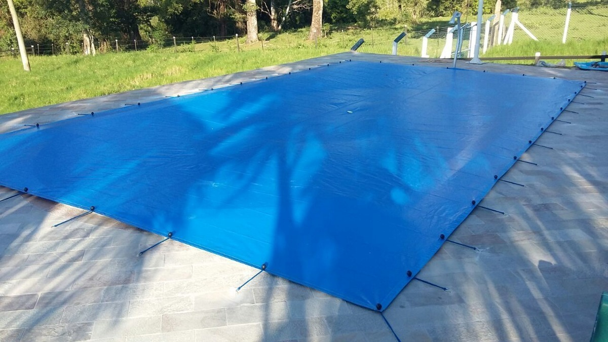 Capa Piscina para Proteção Azul 500 Micras - 11x5