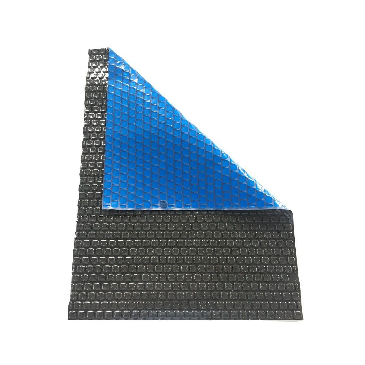 Capa Térmica Azul/Preto Para Piscina 300 Micras 7,50x4