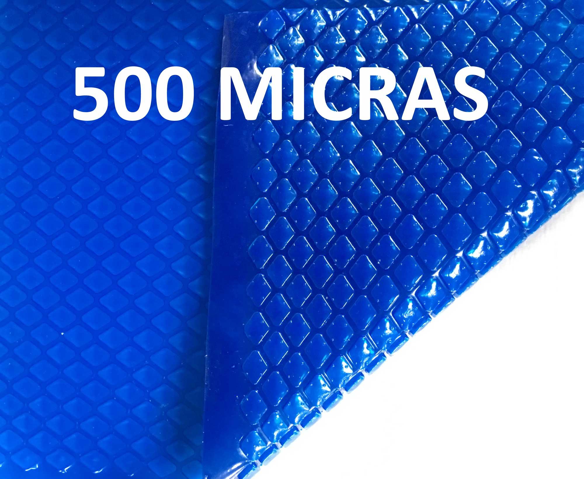 Capa Térmica para Piscina Aquecida Azul 500 Micras